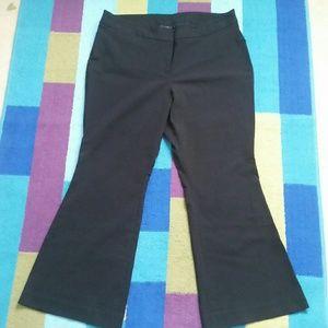 Lane Bryant Black Strechy Flare Pants 18